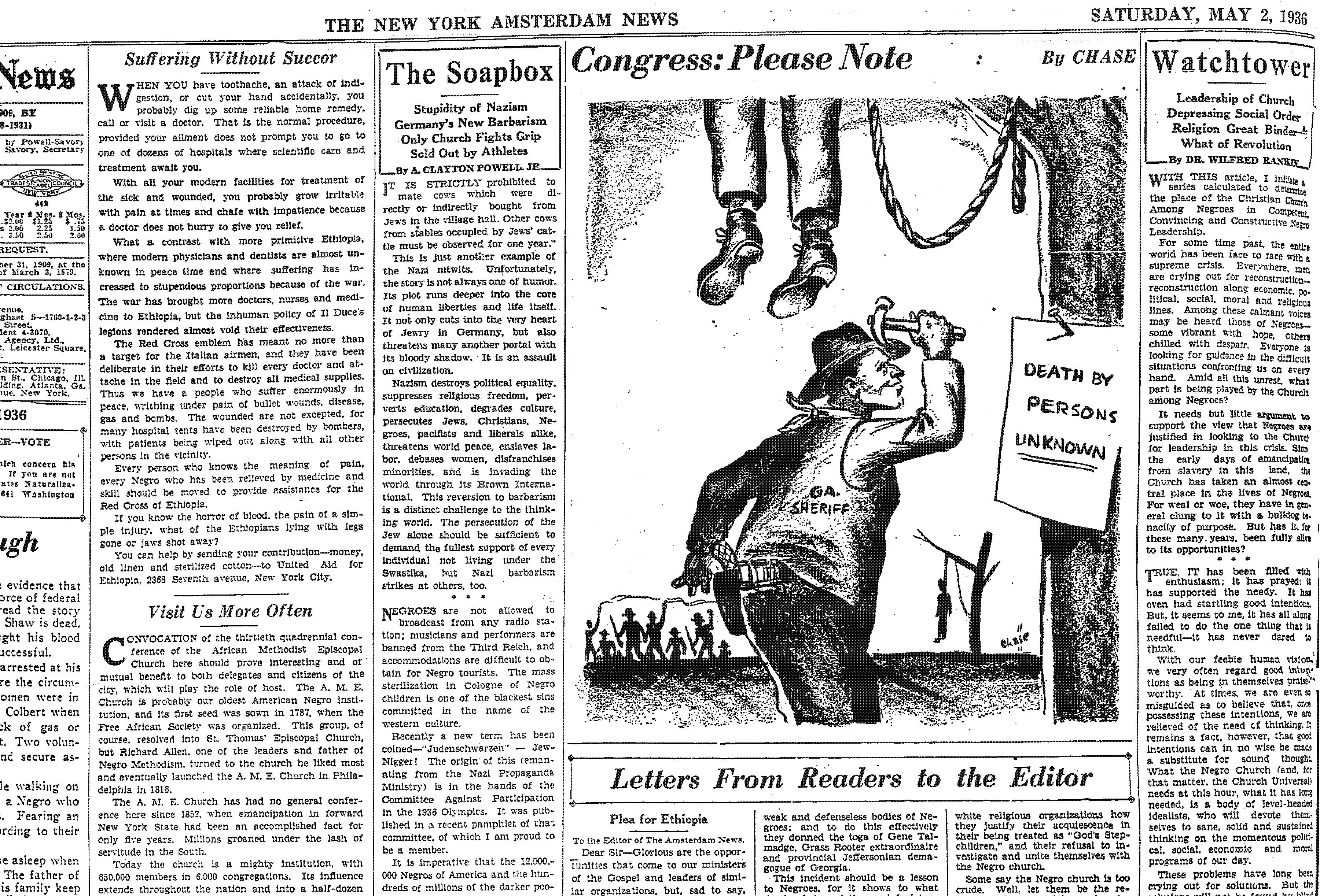 New York Amsterdam News Editorial