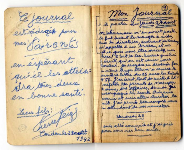 Feigl, Peter Diary 1942