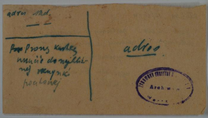 Anonymous letter 1942