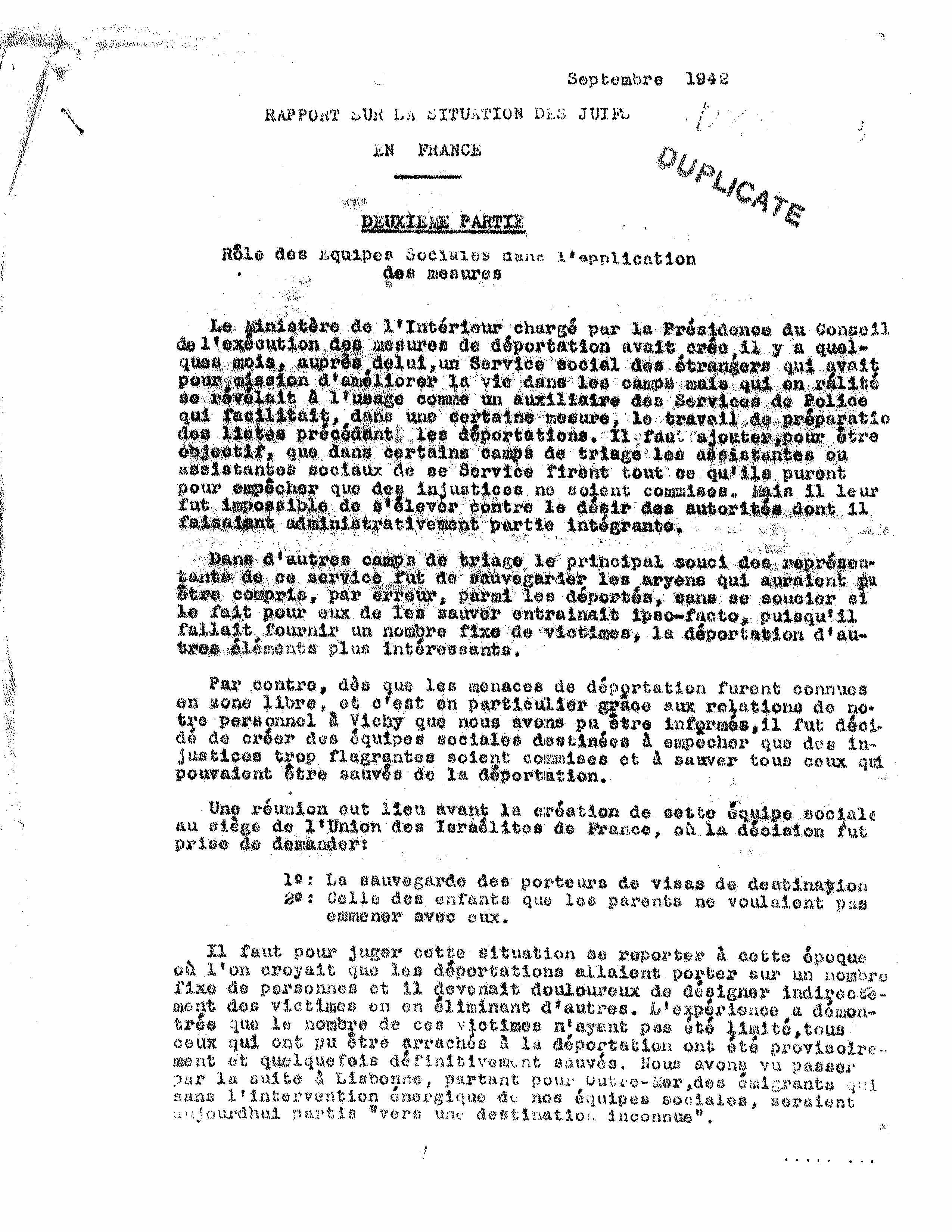 UGIF report 1942