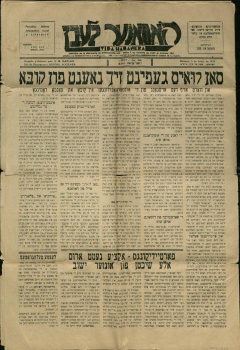 Saint Louis is close to Cuba, Havaner Leben, newspaper article 1939
