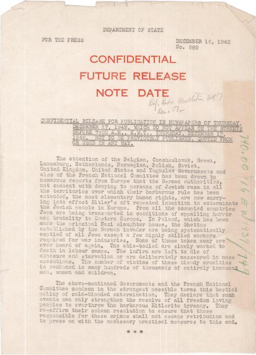 UN Declaration 1942