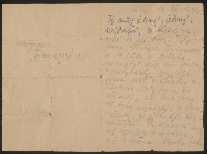 Letter from Vilma Grunwald to Kurt Grunwald