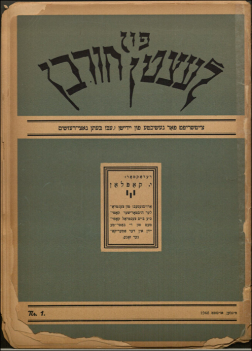 Feygnboym, Moyshe article 1946
