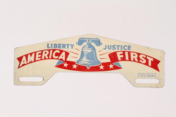 America First License Plate