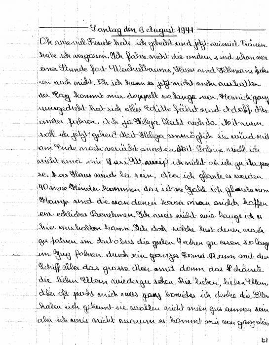 Hilsenrath, Susi Diary 1941