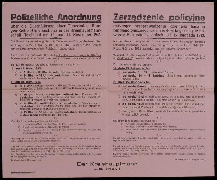 Tuberculosis X-ray Order
