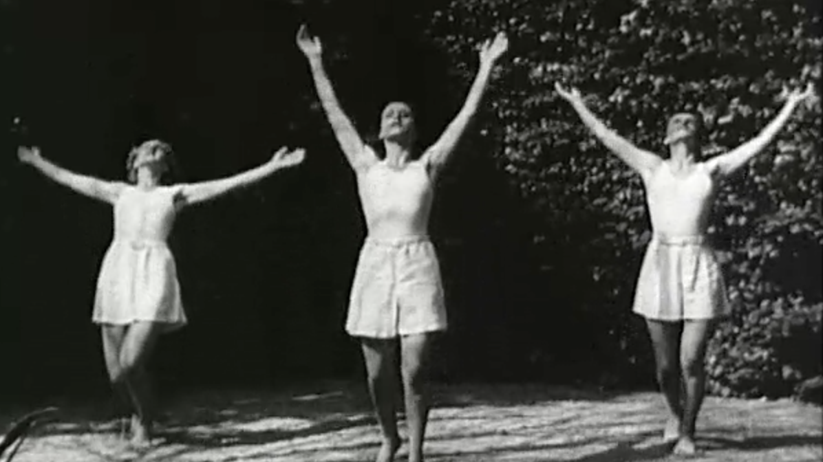 A Nazi propaganda film demonstrates fitness routines for German women.