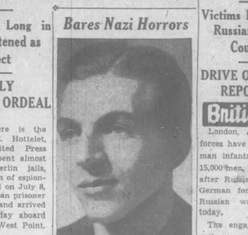 Richard C. Hottelet describes his imprisonment and interrogation in Nazi Germany.