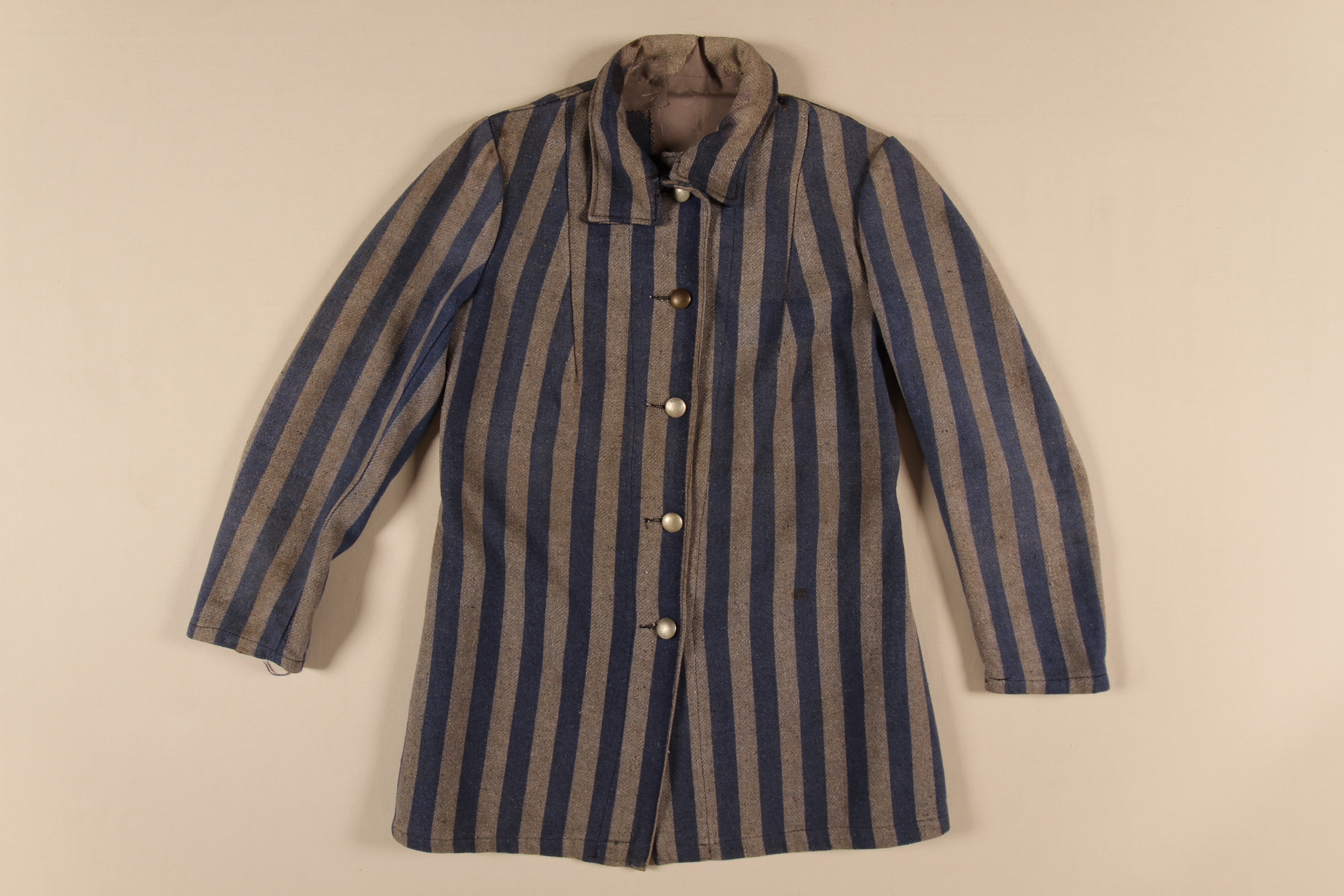 Uniform jacket worn by William Luksenberg while imprisoned in forced labor camps.