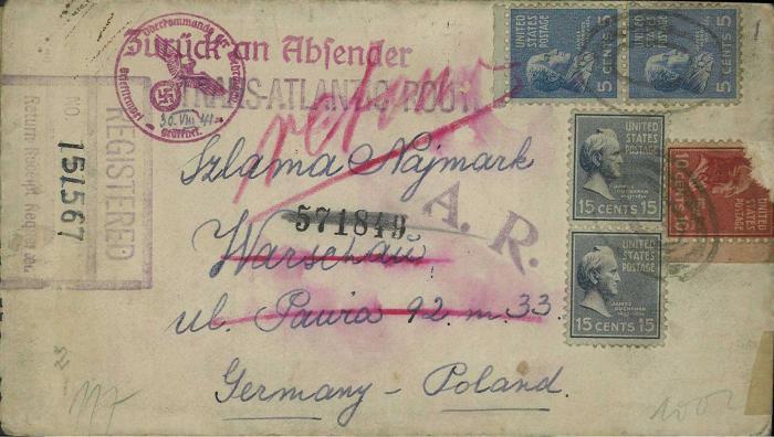 Najmark, David letter 1941