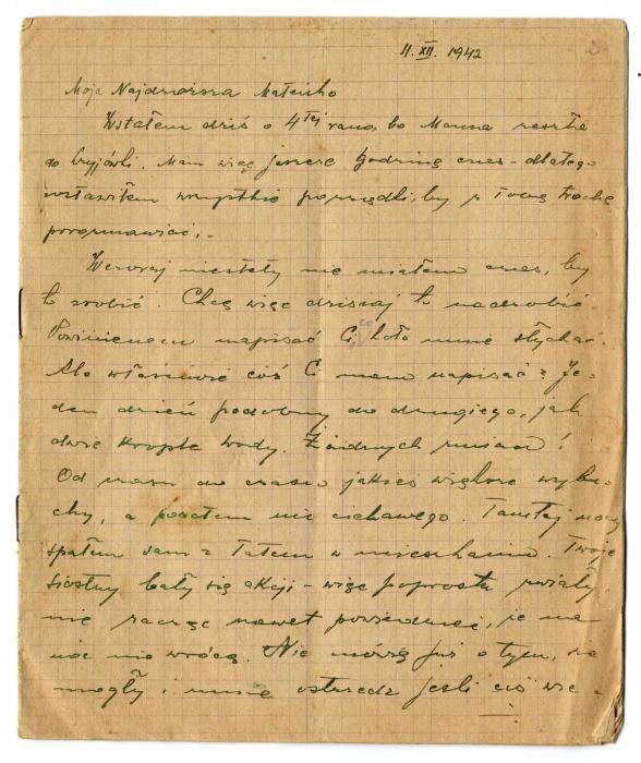 Kelhoffer, Zbigniew letter 1942