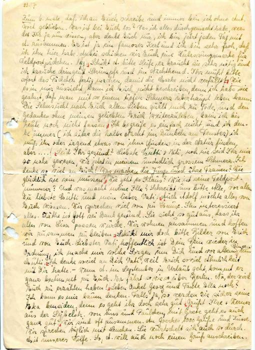 Chotzen, Ilse letter 1942