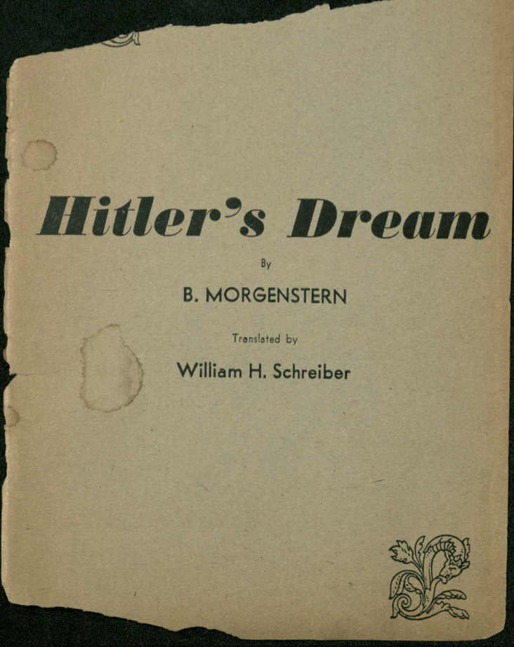 Morgenstern, B. poem 1933
