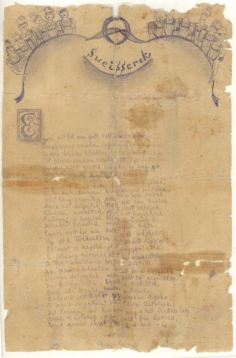 Frank, Ersébet poem 1945