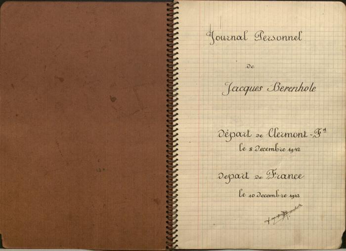 Berenholc, Jacques Diary 1942