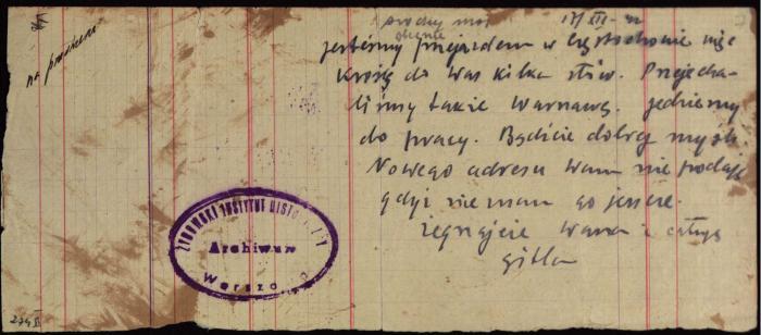 Gitla letter 1942