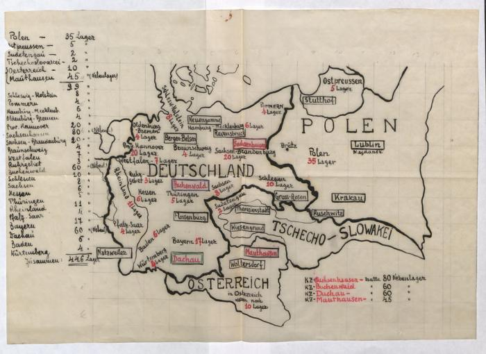 Fischer, Greta map 1945