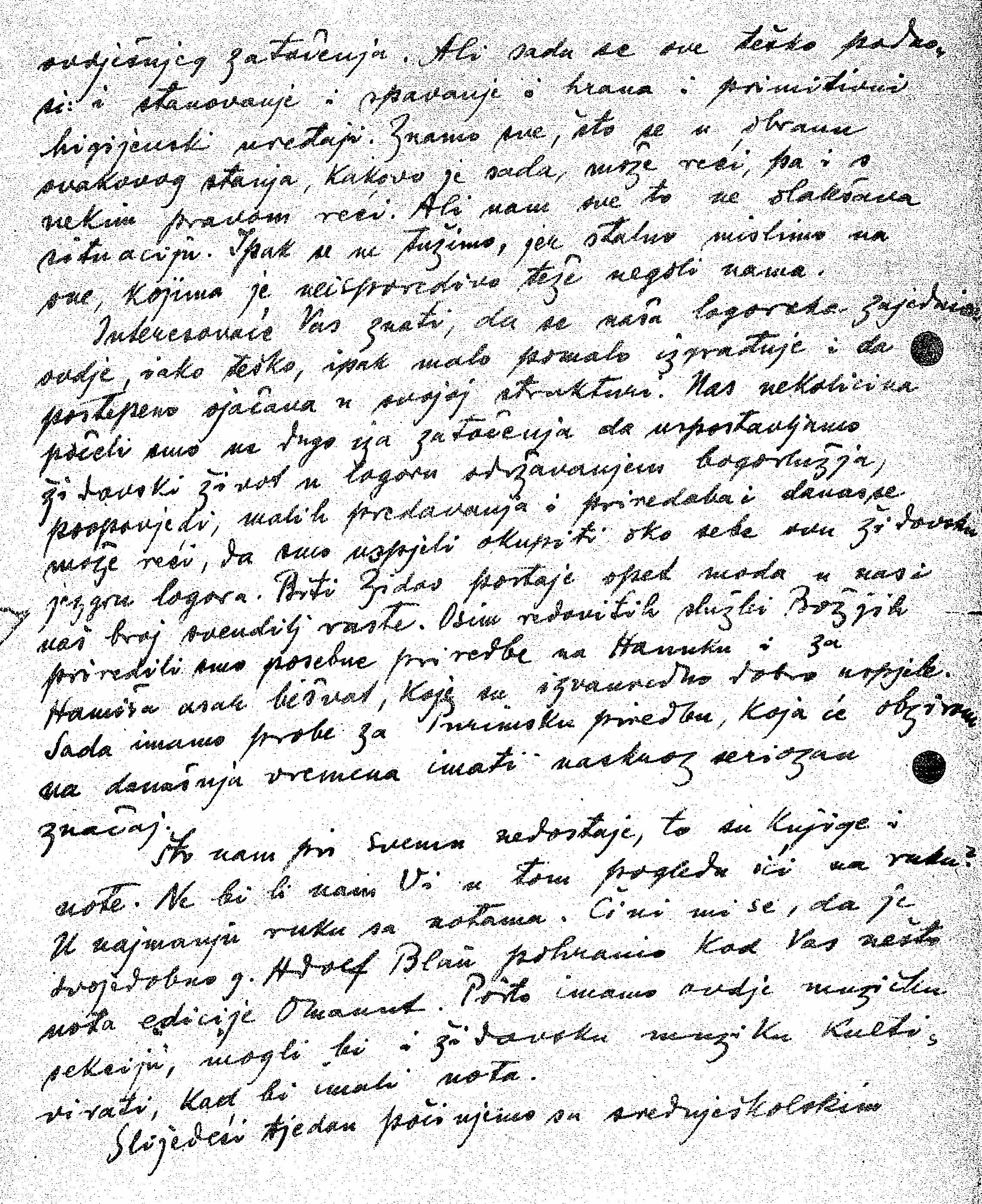 Gottlieb, Hinko letter 1943