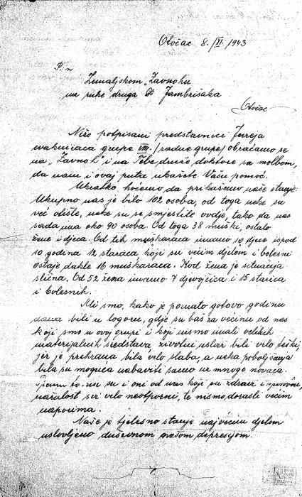 Renert, Adolf letter 1943